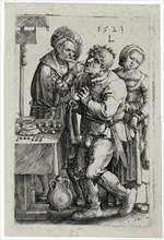 The Dentist, 1523. Artist: Leyden, Lucas, van (1489/94-1533)