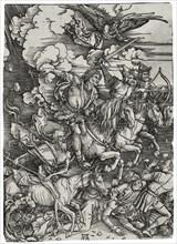 The Four Horsemen of the Apocalypse, ca 1498. Artist: Dürer, Albrecht (1471-1528)