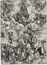 The Beast with Two Horns Like a Lamb, c. 1497. Artist: Dürer, Albrecht (1471-1528)