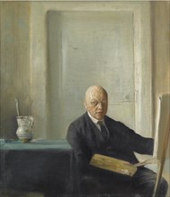 Self-Portrait. Artist: Holsøe, Carl (1863-1935)