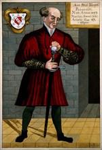 Philippus Theophrastus Aureolus Bombastus von Hohenheim (Paracelsus), c. 1550. Artist: Anonymous