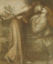 Dante's Dream on the Day of the Death of Beatrice (Io sono in pace), 1875. Artist: Rossetti, Dante Gabriel (1828-1882)