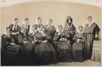 The nurses of the Krestovozdvizhenskaya Commune of Nurses, 1854. Artist: Timm, Vasily (George Wilhelm) (1820-1895)