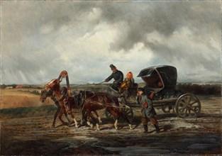On the road to the tooth puller, 1873. Artist: Sverchkov, Nikolai Yegorovich (1817-1898)