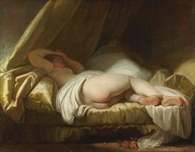 Young girl sleeping, Between 1758 and 1761. Artist: Fragonard, Jean Honoré (1732-1806)