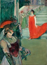 The Opera Messalina at Bordeaux (Messaline descend l'escalier bordé de figurants), 1901.