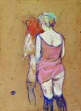 Two Half-Naked Women Seen from behind.