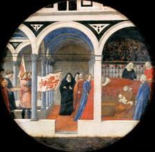 Birth Plate (Desco da Parto). Reverse: Puerperium of a noble Florentine woman.