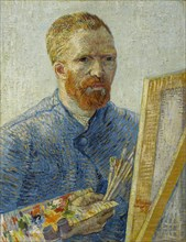 Self-portrait at the easel.