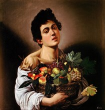 Boy with a Basket of Fruit.