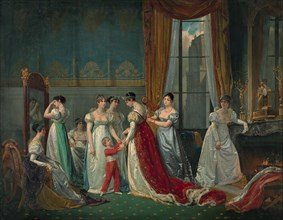 Preparation for the coronation.