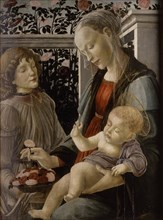 Virgin and Child with Angel, 15th century.