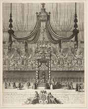 Decoration and arc de triomphe for the funeral of the Grand Condé held in Notre-Dame on March 10, 16