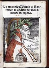 Portrait of Dante Alighieri (From: Lo amoroso convivio. Venice, Zuane Antonio and Fratelli da Sabbio