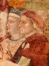 Portrait of Dante Alighieri (From: Fresco of Paradise), 14th century.