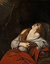 Mary Magdalen in Ecstasy (after Caravaggio), ca 1613.