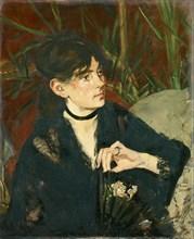 Berthe Morisot with a Fan, 1874.
