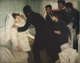 Hypnotic session, 1887.