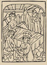 Syphilis treatment: Treatment with ointments (mercury). From: A Malafranczos morbo gallorum preserv