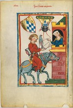 Leuthold of Seven (From the Codex Manesse), Between 1305 and 1340.