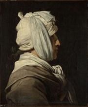 Portrait of Lemonnier with bandaged head, 1775.
