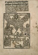Title page of Regimen wider die Pestilenz by Philipp Culmacher, c. 1495.
