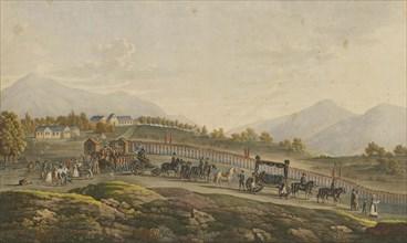 Napoleon's Funeral procession. Saint Helena, 8th May 1821, 1821.