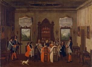 Breakfast in the villa, Between 1760 and 1799.