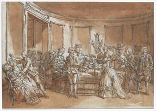A mesmeric tub. Creator: Desrais, Claude Louis (1746-1816).