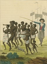 Group of Negros, as imported to be sold for Slaves, 1793. Creator: Blake, William (1757-1827).