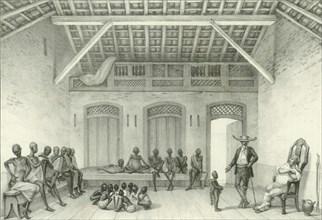 Shop for selling slaves, 1835. Creator: Debret, Jean-Baptiste (1768-1848).
