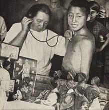Medicine in the USSR. Illustration from USSR Builds Socialism, 1933. Creator: Lissitzky, El (1890-1941).