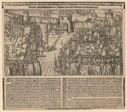 Execution of 27 Protestant Leaders on the Old Town Square in Prague on June 21, 1621, 1621.