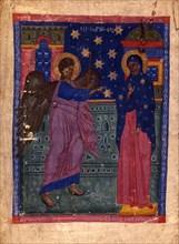 The Annunciation (Manuscript illumination from the Matenadaran Gospel), 1356.