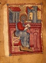 Saint Matthew the Evangelist (Manuscript illumination from the Matenadaran Gospel), 1378.