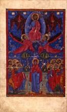 The Resurrection (Manuscript illumination from the Matenadaran Gospel), 1356.