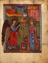 The Annunciation (Manuscript illumination from the Matenadaran Gospel), 1323.