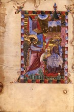 The Annunciation (Manuscript illumination from the Matenadaran Gospel), 1287.