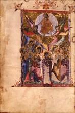 The Resurrection (Manuscript illumination from the Matenadaran Gospel), 1287.