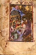 The Descent into Hell (Manuscript illumination from the Matenadaran Gospel), 1287.