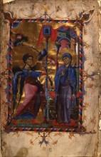 The Annunciation (Manuscript illumination from the Matenadaran Gospel), 1280s.