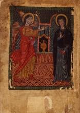 The Annunciation (Manuscript illumination from the Matenadaran Gospel), 1378.