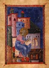 Saint Matthew the Evangelist (Manuscript illumination from the Matenadaran Gospel), 1270.