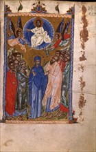 The Resurrection (Manuscript illumination from the Matenadaran Gospel), 14th century.