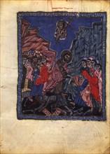 The Descent into Hell (Manuscript illumination from the Matenadaran Gospel), 1232.