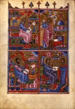 The Four Evangelists (Manuscript illumination from the Matenadaran Gospel), 1368.