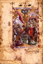 The Entry of Christ into Jerusalem (Manuscript illumination from the Matenadaran Gospel), 1287.