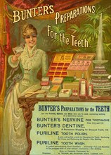 Bunter?s Preparations For The Teeth, 19th century. Artist: Unknown