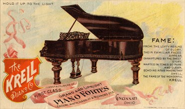 The Krell Piano, 19th century. Artist: Unknown