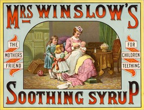Mrs Winslow?s Soothing Syrup, 19th century. Artist: Unknown